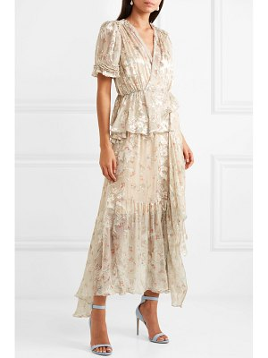 Preen By Thornton Bregazzi jayma floral-print devoré silk-blend satin midi dress