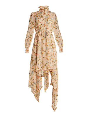 Preen By Thornton Bregazzi Martha Floral Print Silk Georgette Dress