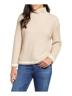 PRESS shaker stitch funnel neck tipped sweater