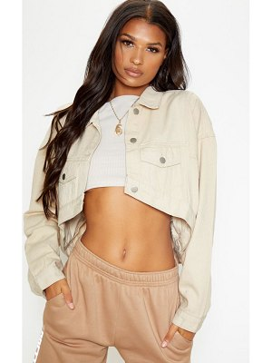 PrettyLittleThing 4 pocket oversized denim jacket