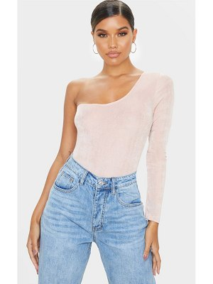 PrettyLittleThing acetate slinky one shoulder bodysuit