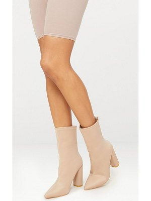 PrettyLittleThing addie neoprene pointed sock boots