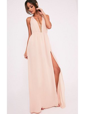 PrettyLittleThing alina plunge maxi dress