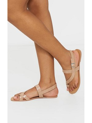 PrettyLittleThing asymmetric toe loop sandals