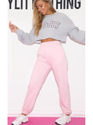 PrettyLittleThing baby pink casual jogger