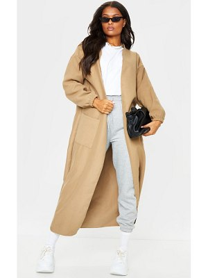 PrettyLittleThing balloon sleeve maxi pocket front coat