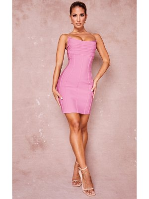 PrettyLittleThing bandage pointed bandeau panelled bodycon dress
