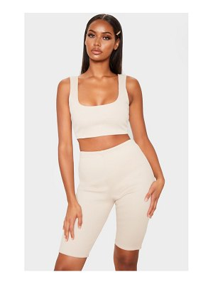 PrettyLittleThing bandage rib scoop neck crop top