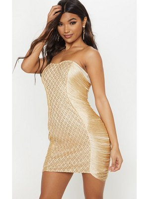PrettyLittleThing bandeau glitter tassel bodycon dress