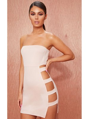 PrettyLittleThing bandeau strappy side bodycon dress