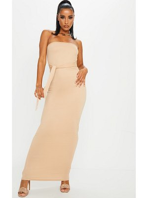PrettyLittleThing bandeau tie waist maxi dress