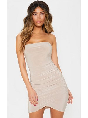 PrettyLittleThing bandeau wrap bodycon dress