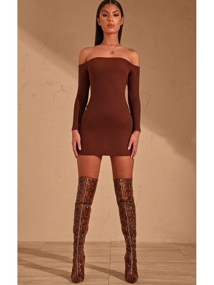 PrettyLittleThing bardot bodycon dress