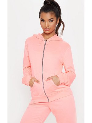 PrettyLittleThing basic gym sweat zip hoodie