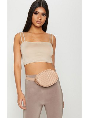 PrettyLittleThing basic jersey double strap crop top
