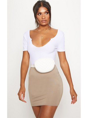 PrettyLittleThing basic jersey mini skirt