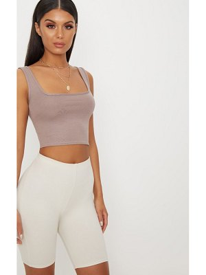 PrettyLittleThing basic jersey square neck crop vest