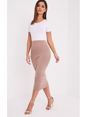 PrettyLittleThing basic long line midi skirt