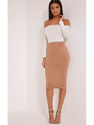PrettyLittleThing basic midi skirt