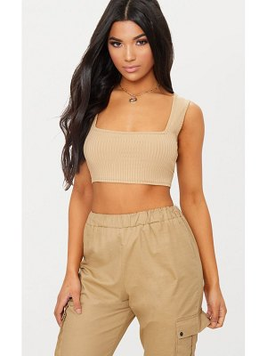 PrettyLittleThing basic rib crop top