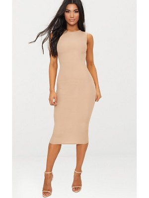 PrettyLittleThing basic ribbed midi dress