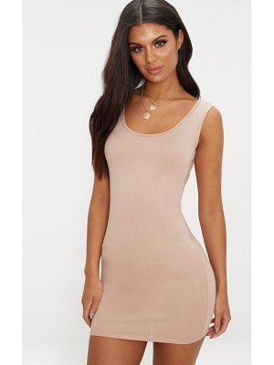 PrettyLittleThing basic scoop neck bodycon dress
