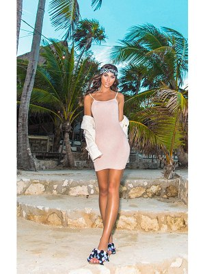 PrettyLittleThing basic strappy bodycon dress