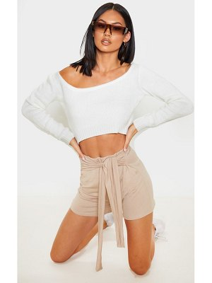 PrettyLittleThing basic tie waist short