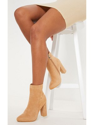 PrettyLittleThing behati faux suede ankle boots