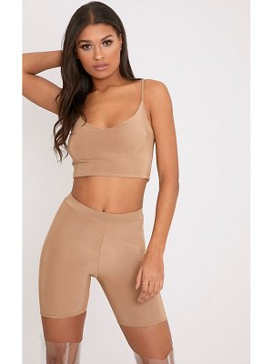 PrettyLittleThing bella slinky cami crop top