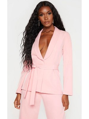 PrettyLittleThing belted fitted blazer