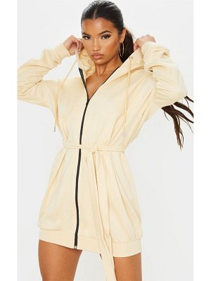 PrettyLittleThing belted hoodie dress