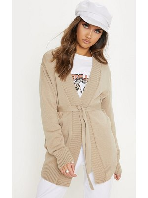 PrettyLittleThing  belted knitted cardigan