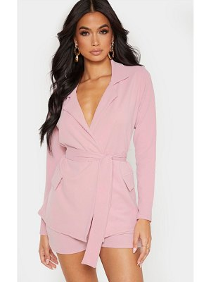 PrettyLittleThing belted pocket detail blazer