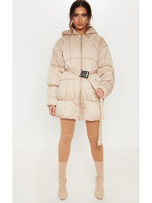 PrettyLittleThing belted puffer jacket