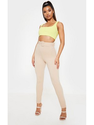 PrettyLittleThing belted waist skinny pants