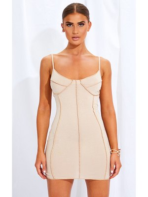 PrettyLittleThing binding detail strappy bodycon dress