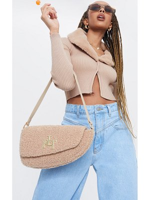 PrettyLittleThing borg saddle shoulder bag
