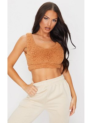 PrettyLittleThing borg scoop neck bralet
