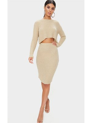 PrettyLittleThing boucle knit skirt