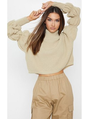 PrettyLittleThing bubble sleeve knitted sweater