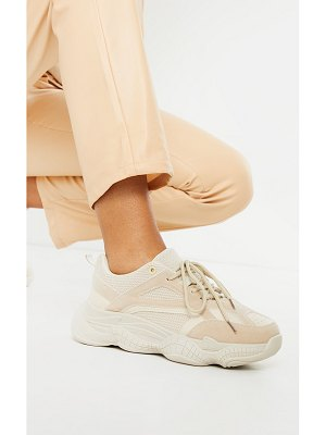 PrettyLittleThing bubble sole mesh and faux suede sneakers
