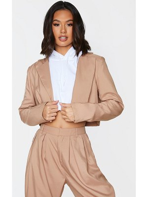 PrettyLittleThing button front cropped blazer