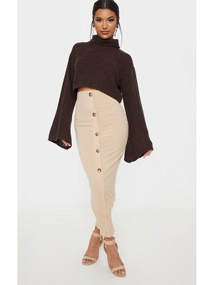 PrettyLittleThing button front midaxi skirt