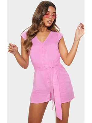 PrettyLittleThing button through detail romper