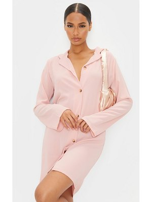 PrettyLittleThing button up polo collar detail shift dress