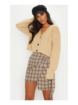 PrettyLittleThing cable cropped cardigan