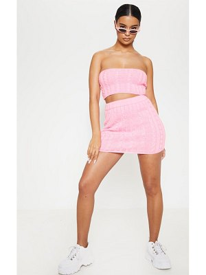 PrettyLittleThing cable knitted skirt