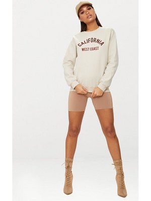 PrettyLittleThing california slogan oversized sweater