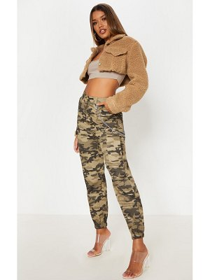 PrettyLittleThing camo pocket detail cargo pants